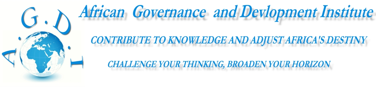 AGDI The African Governance and Development Institute